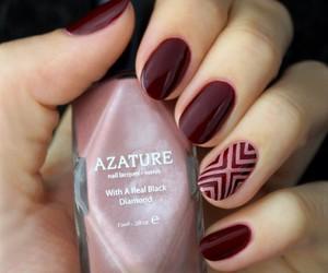 burgundy, manicure, and mani image