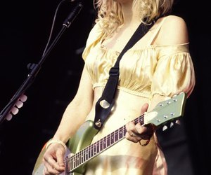 concert, Courtney Love, and guitar image