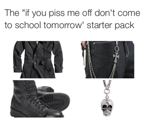 school shooter and starter pack image