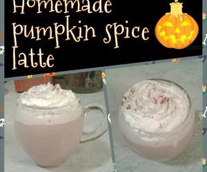 Halloween, homemade, and latte image