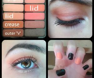 black, nails, and eye shadow image