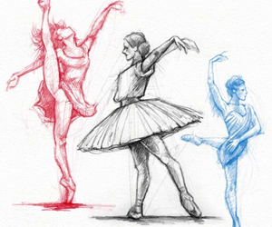 artwork, pointe, and ballet image