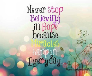 hope, miracle, and believe image