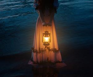 light, sea, and dark image