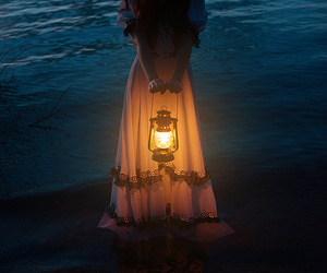 light, sea, and fantasy image