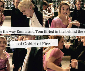 behind the scenes, emma watson, and goblet of fire image