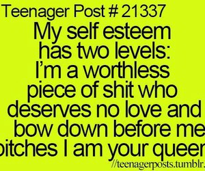 self esteem and teenager post image