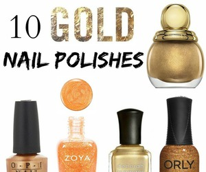 beauty, gold, and manicure image