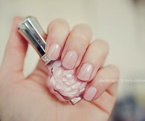 flower, glitter, and nail polish image