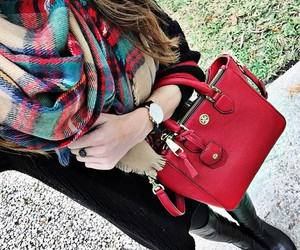 fall, plaid, and preppy image