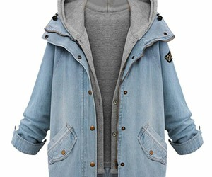 denim, denim jacket, and fashion image