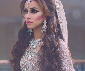 hair, bride, and indian image