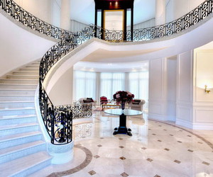 architecture, mansion, and stairs image