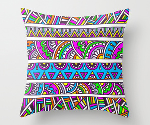 colorful, pattern, and pillow image