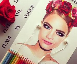 cara delevingne, drawing, and draw image