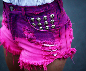 pink, shorts, and purple image
