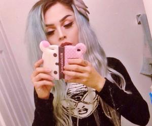 alt girl, blue hair, and dyed hair image