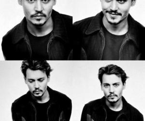 black and white, hair, and johnny depp image
