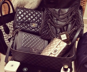 chanel, bag, and makeup image