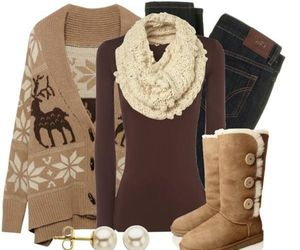 winter, fashion, and brown image
