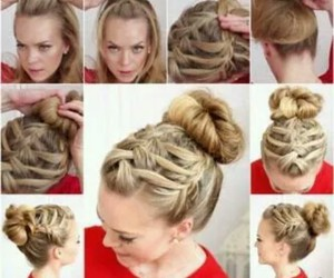 blond, diy, and hairstyle image