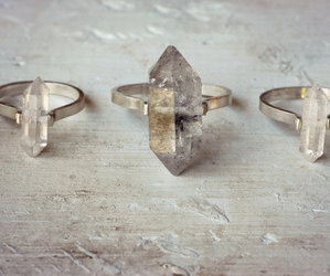 crystal, rings, and stone image