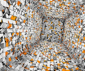 optical illusion falling, depth perception squares, and artistic graphic visual image