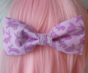 bow, hair, and kawaii image