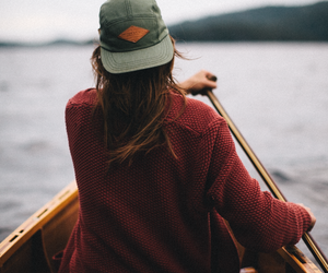 girl, travel, and boat image