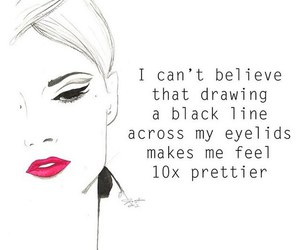 pretty, eyeliner, and makeup image