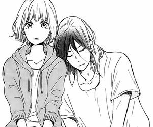 cute, couple, and manga image
