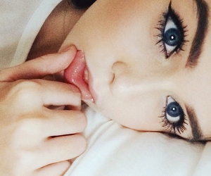 beautiful, blue, and eyeliner image