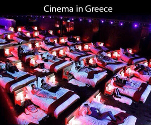 cinema, bed, and movie image