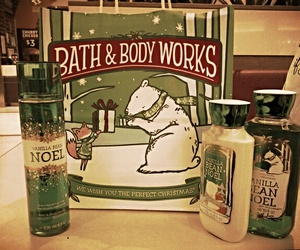 christmas, noel, and bath and body works image