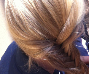 blonde, braid, and fishtail image