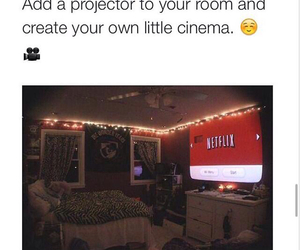 netflix, cinema, and room image