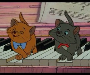 cats, disney, and piano image