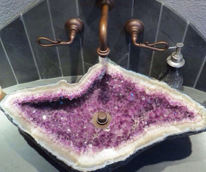 sink, crystal, and purple image