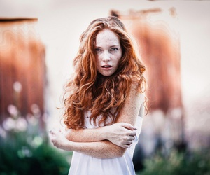 beauty, girl, and redhead image
