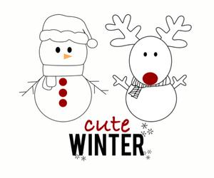 christmas, season, and snowflake image