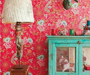 decor, floral, and vintage image