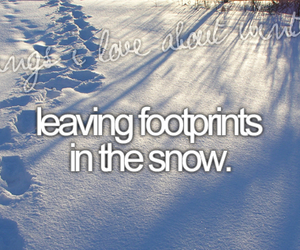 winter, snow, and footprints image