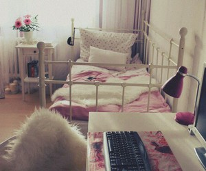 bedroom, comfy, and girly image