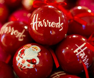 christmas, harrods, and red image