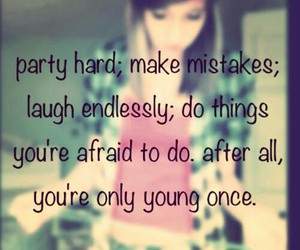 party, teen, and quote image