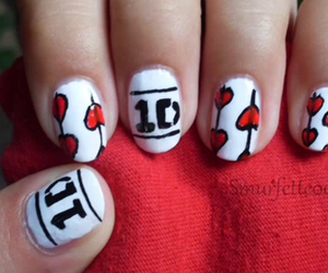 hearts, Logo, and nail art image