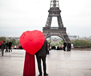 paris, love, and red image