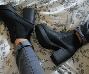 boots, fashion, and heels image