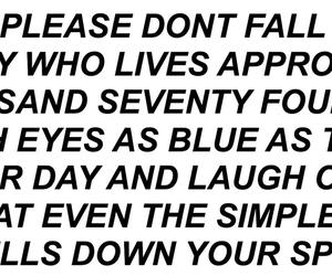 blue eyes, poem, and poetry image
