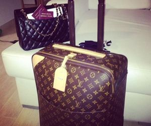 LV, Louis Vuitton, and travel image